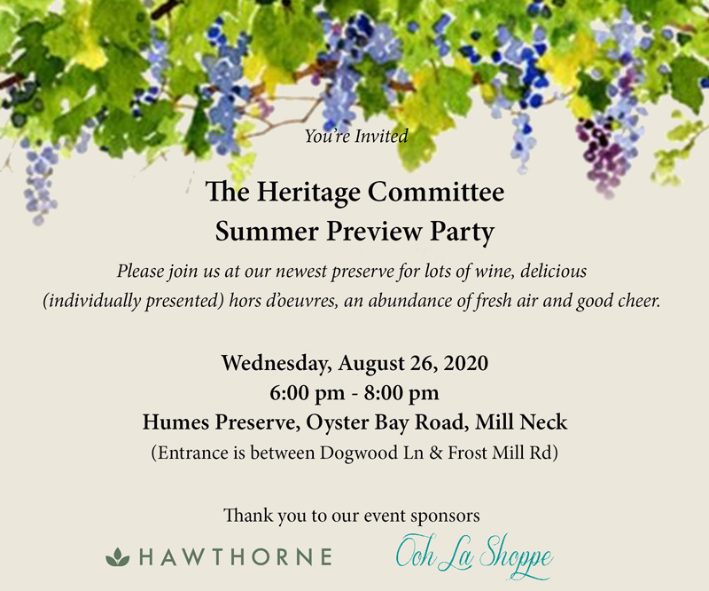 Heritage Committee Summer Preview Party